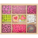 grossiste Bijoux & Montres: Ensemble artisanal de perles à enfiler, 199 pièces