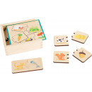 Educational game wooden puzzle feeding animals, 13