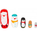 groothandel Woondecoratie: Matryoshka Kerstmis, 5 delen