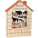 Advent calendar Merry Christmas, 34x9x49cm