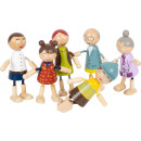 Flexibele poppenfamilie van hout, 6 delen