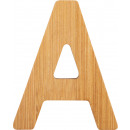 ABC letters bamboo A