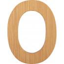 ABC betűk bambusz O, 7x6x0,5cm