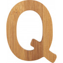 ABC letter bamboo Q