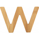 ABC letters bamboo W