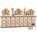 Adventskalender aus Holz Weihnachtsbasar, 40x10x22