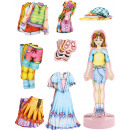 Magnetic game dress-up doll Magda, 36 parts, 30x18