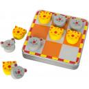 Tic Tac Toe Katz und Maus, 10,5x10,5x2,5cm