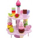 Tortaállványos édességek, 22 részből, 19x19x25,5cm