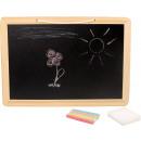 Schoolbord gekleurd krijt, 33.5x23.5x1cm