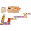 nagyker Játékok: Domino állatkerti állatok, 28 részből, 14,5x8x5cm