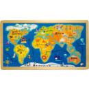 Frame puzzle world map, 40x22.5x1cm
