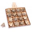 Großhandel Lizenzartikel:Weihnachtsbaumschmuc k Schneemannbox, 48 Teile, 17,
