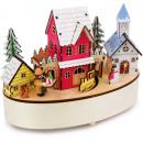 Großhandel Spielwaren: Spieluhr & Lampe Winterzeit, 21x11x16cm