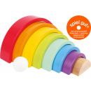 Wooden building blocks large rainbow, 9 parts, 26x