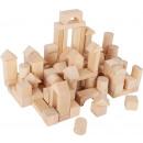 Bloques de madera en una bolsa, 100 piezas, 3x3x6c