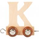 Treno delle lettere, legno K, 7.5x4x6.5cm