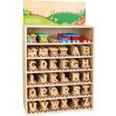 mayorista Casa y decoración: Expositor Tren de letras, 45x20,5x72,5cm