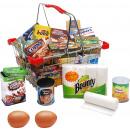 groothandel Boodschappentassen: Metalen winkelmand, 24x18.5x12cm