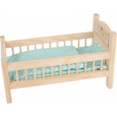 hurtownia Zabawki pluszowe & lalki: Łóżko dla lalek, naturalne, 44x23x25cm