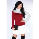 groothandel Truien & pullovers:Blouse CG015 Maroon