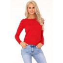 wholesale Pullover & Sweatshirts:Ekenena Red 649 sweater