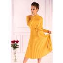 Großhandel Kleider: Hamien gelbes Kleid 85603