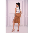 wholesale Skirts: Lunarin Camel 90532 skirt
