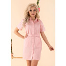 grossiste Vetements:Robe Linesc Rose D88
