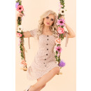 Großhandel Kleider:Merinam Beige D92 Kleid