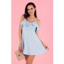 Großhandel Kleider:Cooreo Blue D63 Kleid