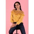 wholesale Pullover & Sweatshirts:Hiron Mustard B34 blouse
