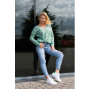 wholesale Pullover & Sweatshirts:Gloris Mint Sweater