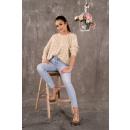 groothandel Truien & pullovers: Marynesta Beige sweater maat - ONE SIZE
