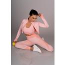 wholesale Pullover & Sweatshirts:Gym 714 Pink LC1756 set