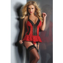 wholesale Erotic Clothing: Corset Red Rose LC 90130 size - XXL