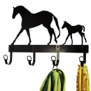 Türgarderobe Garderobe Pferde Motiv Kleiderhaken H