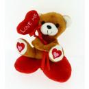 bear heart cushion 12 cms