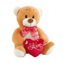 teddy bear heart and tie 20 cms