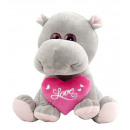 hippo sitting heart 18 cms