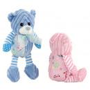 Bär in blau und rosa Junge 25 cm