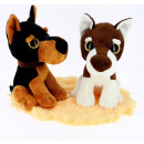 perros 2 colores. 18 cms