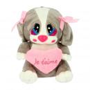 perrito corazon con corbatas 20 cms