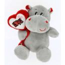 hippopotamus heart love18 cms