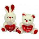 white bears and rabbit18 cms
