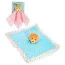 Großhandel Babyspielzeug: Dou-Dou blaue und rosa Rassel tragen 27 cm