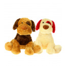 dog sitting two colors 40 cms st1142-1