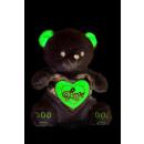 coeur en métal ours blanc 45