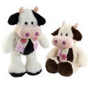 cow scarf 2 colors b / w 62 cms