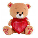 bear heart red squares 45 cms